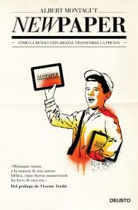 El periódico que lleva en la mano el repartidor tiene forma de tableta representado la evolución que ha sufrido la prensa